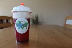 Strawberry Fruit Tea with Milk Cap
