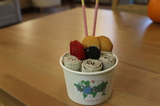 Cookies 'n Cream Rolled Ice Cream